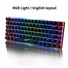 Keyboard 82 Keys Mechanical Russian English Wired Gaming RGB Backlight Switch