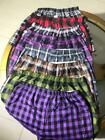 3/6/12 Pack Men Woven Check Print Poly Cotton Boxer Shorts Underwear Plain Trunk <br/> New Knocker Boxers Lowest Prices 3, 6, 9 12 Pairs