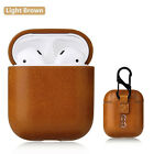 New Leather Soft Skin Case For Apple Airpods 1 2 1st 2nd Gen Earphones PU Cover <br/> Fits Airpods 1 & 2🔥24Hr Sale🔥RRP £8🔥Wireless Charge