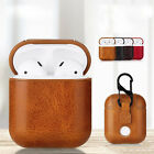 New Leather Soft Skin Case For Apple Airpods 1 2 1st 2nd Gen Earphones PU Cover