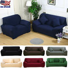 1-4 Seats Slipcover Sofa Covers Polyester Spandex Stretch Couch Cushion Cover US image