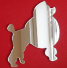 Poodle Dog Shaped Mirrors (Shatterproof Safety Acrylic Mirrors, Several Sizes)