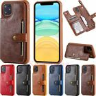 For Iphone 11 Pro Max Xs 6 7 8 Magnetic Leather Wallet Case Card Slot Flip Cover