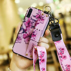 For Samsung Galaxy A10 A20 A50 A70 Girls Women Leather Handle Strap Case Cover