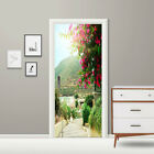 3D Door Sticker Wall Sticker  Self-Adhesive Landscape Door Sticker PVC Home Deco
