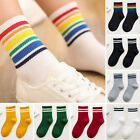 3 Pairs Pack Rainbow Ankle Thick Stripped Breathable Sports Socks Fashion Socks