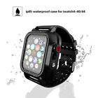 360° Waterproof Case Cover Silicone Band Strap For 42/44mm Apple iWatch Series 4 image