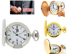 Boxx Pocket Watch Men's Date  on 14 Inch Chain GOLD / SILVER / ROSE GOLD image