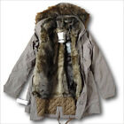 NWT Abercrombie&Fitch Womens XL Three-In-One Faux Fur Lined Parka Jacket Brown