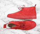 (US 16, 17) Del Toro Suede Boots in Red