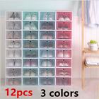 Kyпить 12 pcs Shoe Storage Box Case Sneaker Organizer Stackable Plastic Transparent на еВаy.соm
