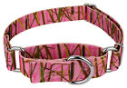 Country Brook Design® Pink Waterfowl Camo Martingale Dog Collar