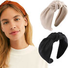 Women's Knot Headband Tie Hairband Plain Wide Hair Band Hoop Accessories Casual