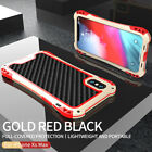 For iPhone 11 Pro Max Metal Aluminum Heavy Duty Silicone Shockproof Case Cover