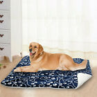 Printed Pet bed cushion Blue Washable Dog Kennel mattress Winter Warm 2019 Cute