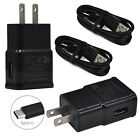 For Samsung Galaxy S10e A80 S10+ S9+ S8+ Car Wall Charger USB-C Data Cable Cord
