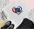 Nfl New York Giants V-Neck T-Shirt, Women's Tee Top Gildan, White Handmade New $23.99 USD on eBay