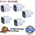 10x White 1A USB Power Adapter AC Home Wall Charger US Plug FOR iPhone SE 6 7 8