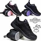 WOMENS ULTRA LIGHTWEIGHT WORK STEEL TOE CAP SAFETY BLACK LADIES TRAINER BOOTS SZ