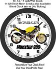 1996 Ducati Monster 900 Motorcycle Wall Clock-Triumph, Aprilia, Yamaha