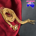 Classic 18k Gold Plated 1mm Round Snake Chain Necklace Gift