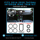 For 2016-2020 Tacoma Dashboard Interior Blackout Overlay Decal Kit - Flat Matte