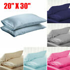 Mulberry Satin Silk Pillowcase Pillow Case Cover King Queen Standard Cushion New image