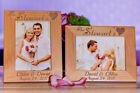 Personalized Couple Picture Frame, Engraved Wedding Photo Gift for your Love