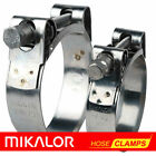 MIKALOR  Stainless Steel Heavy Duty Hose & Exhaust Pipe T Bolt Clip Clamps