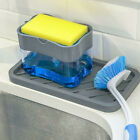 Home Clean 2in1 Pump Soap Dispenser and Sponge Caddy For Dish Soap/Sponge US HOT