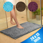 Soft Microfiber Shaggy Non Slip Absorbent Bath Mat Bathroom Shower Rugs Carpet