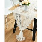 Vintage Lace Wedding Table Runner White Floral Cloth Rustic Wedding Table Decor