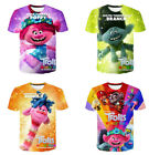 Cartoon Trolls Casual Girl Boys Kids Child T-Shirt 3D Print Short Sleeve Tee Top image