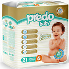 Predo Baby Premium Diapers, Size 2-3-4-5-6, Free Shipping, 4 Packs/Case