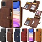 For Iphone 11 Pro Max X Xr 6 7 8 Plus Zipper Wallet Case Card Slot Leather Cover