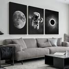 wall26 3 Panel Canvas Wall Art Astronaut Grand Eclipse Moon Kids Canvas Painting