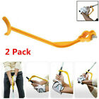 Golf Swing Guide Training Aids Trainer Tools Practice Swing Grip Yellow 2 Pcs