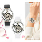 Exquisite Women Watch Musical Note Round Dial PU Strap Band Watch Ornaments Gift