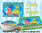 """Whats funnier than 24"" 25 SPONGEBOB SQUAREPANTS Cake Topper Edible picture easy"