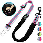 Reflective Dog Car Seat Belt Leash Nylon Restraint Harness Strap Seatbelt Leads