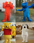 Christmas Red Cookie Monster Costume Pooh Mascot Fancy Dress Adult Cosplay Party