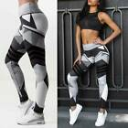 Women High Waisted Leggings Yoga Pants Print Sports Gym Fitness Stretch Workout