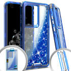 "Samsung Galaxy S20 ULTRA (6.9"") Hybrid Rubber Moving Glitter Liquid Case Cover"