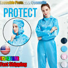Kyпить Reusable Coveralls Clothing Protective Hooded Overall Suit Splashproof Isolation на еВаy.соm