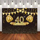 Middle Aged Elderly People Birthday Backdrop Cheers to Birthday Party Background