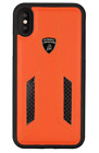 Official Lamborghini Huracan-D6 Genuine Leather Carbon Back Сase for iPhone X/Xs