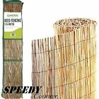 Natural Peeled Reed Screening Roll Garden Screen Fence Fencing Panel Wooden 4m