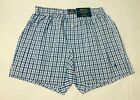 Polo Ralph Lauren Men's Classic Fit Woven Boxers Light Blue Plaid Size M L XL
