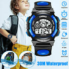 Kids Boys Girls LED Digital Sports Wrist Watch Child Alarm Waterproof Stopwatch image