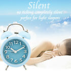 Vintage Quartz Metal Loud Twin Bell Alarm Clock Analog Night Light Home Decor a